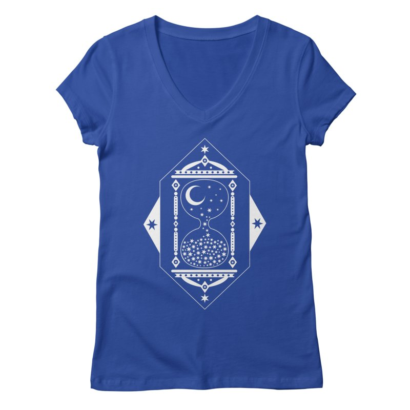 The Hours Glass Women's V-Neck by nikolking's Artist Shop