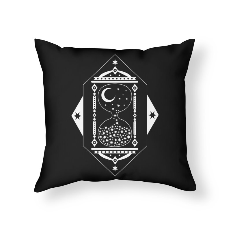 The Hours Glass Home Throw Pillow by nikolking's Artist Shop