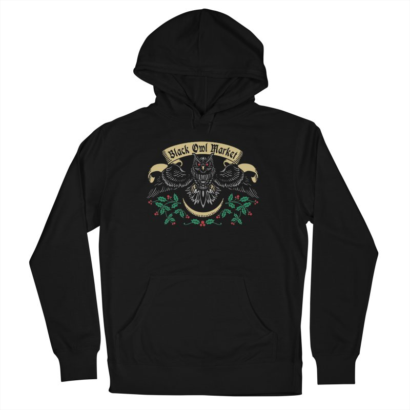 Black Owl Market Men's Pullover Hoody by nikolking's Artist Shop