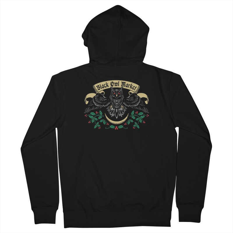 Black Owl Market Women's Zip-Up Hoody by nikolking's Artist Shop