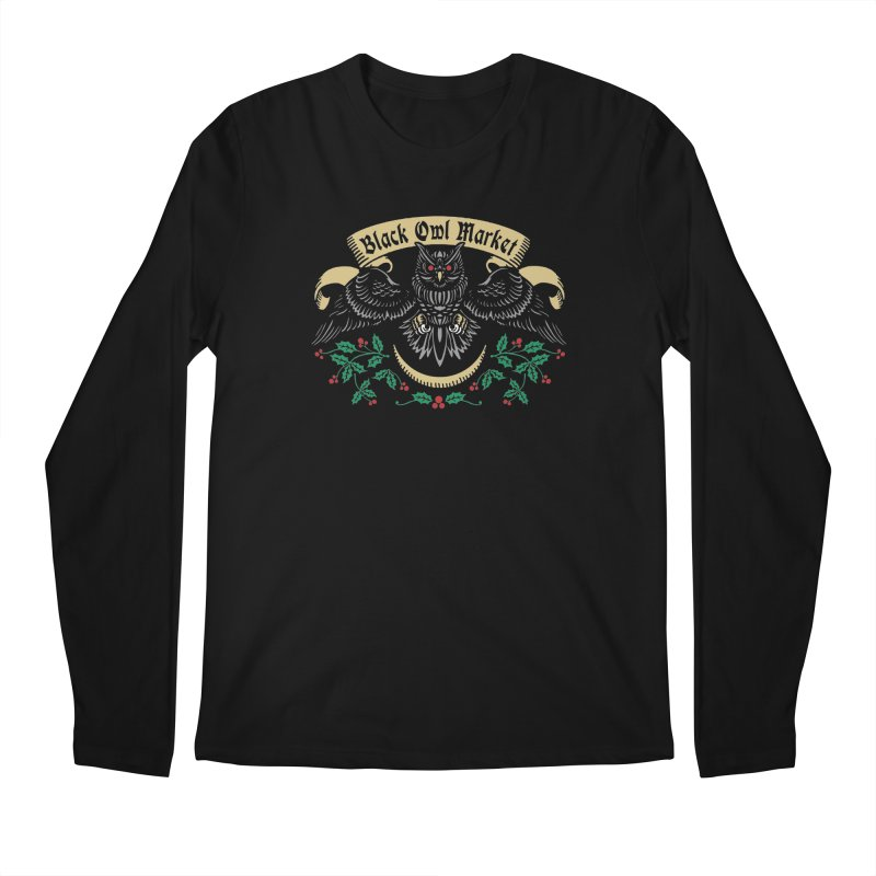 Black Owl Market Men's Longsleeve T-Shirt by nikolking's Artist Shop