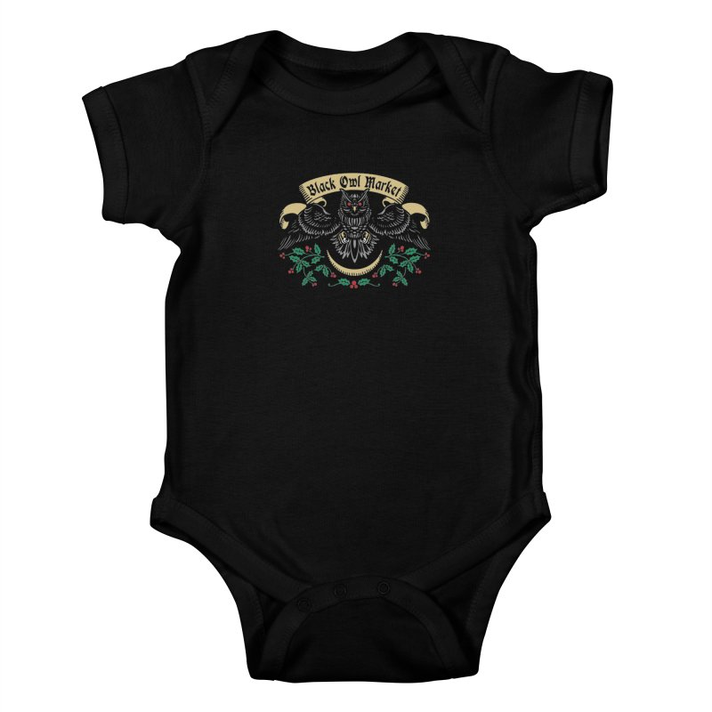 Black Owl Market Kids Baby Bodysuit by nikolking's Artist Shop
