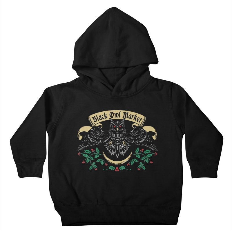 Black Owl Market Kids Toddler Pullover Hoody by nikolking's Artist Shop