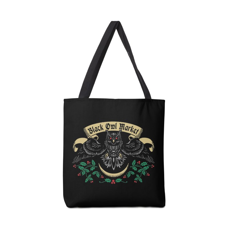 Black Owl Market Accessories Bag by nikolking's Artist Shop