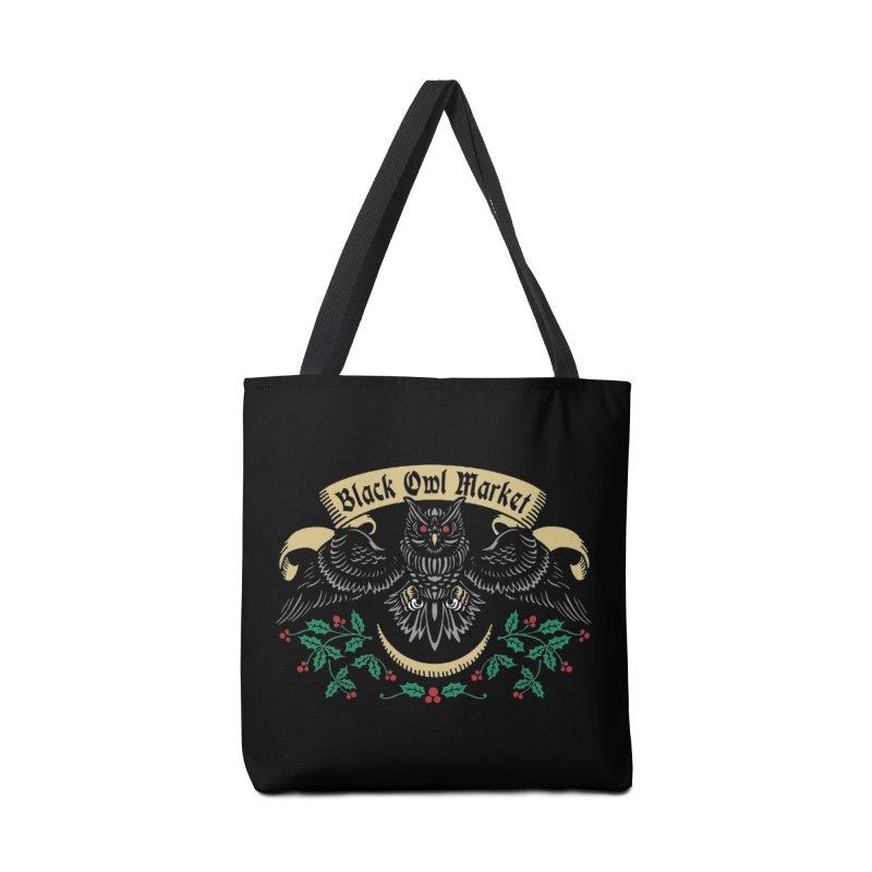 Black Owl Market Accessories Bag by nikolking's Artist Shop