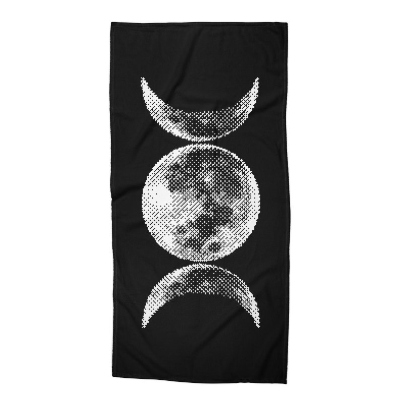 8 Bit Triple Moon Accessories Beach Towel by nikolking's Artist Shop