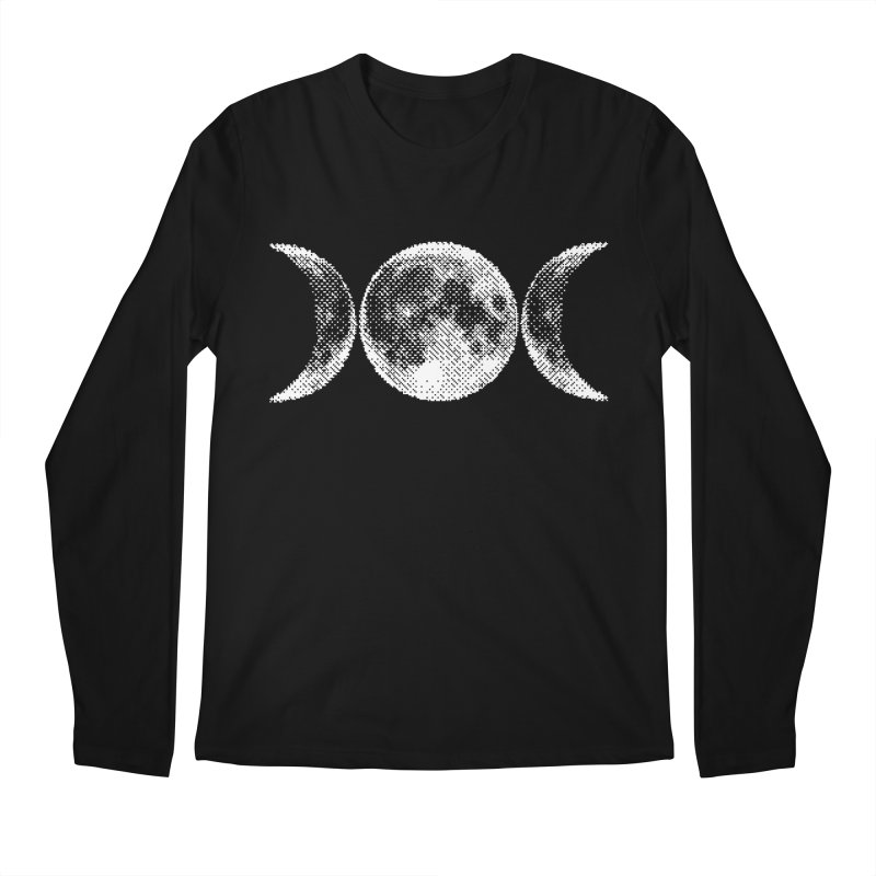 8 Bit Triple Moon Men's Longsleeve T-Shirt by nikolking's Artist Shop