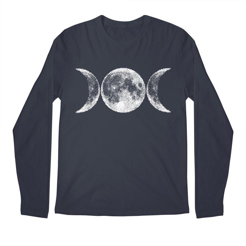 8 Bit Triple Moon Men's Longsleeve T-Shirt by nikolking's Artist Shop