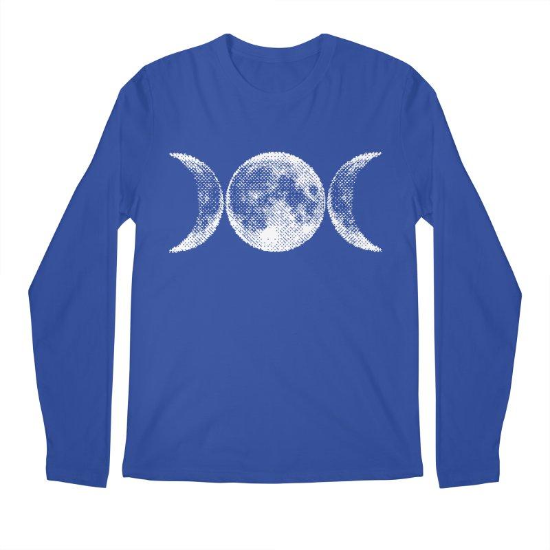 8 Bit Triple Moon Men's Regular Longsleeve T-Shirt by nikolking's Artist Shop