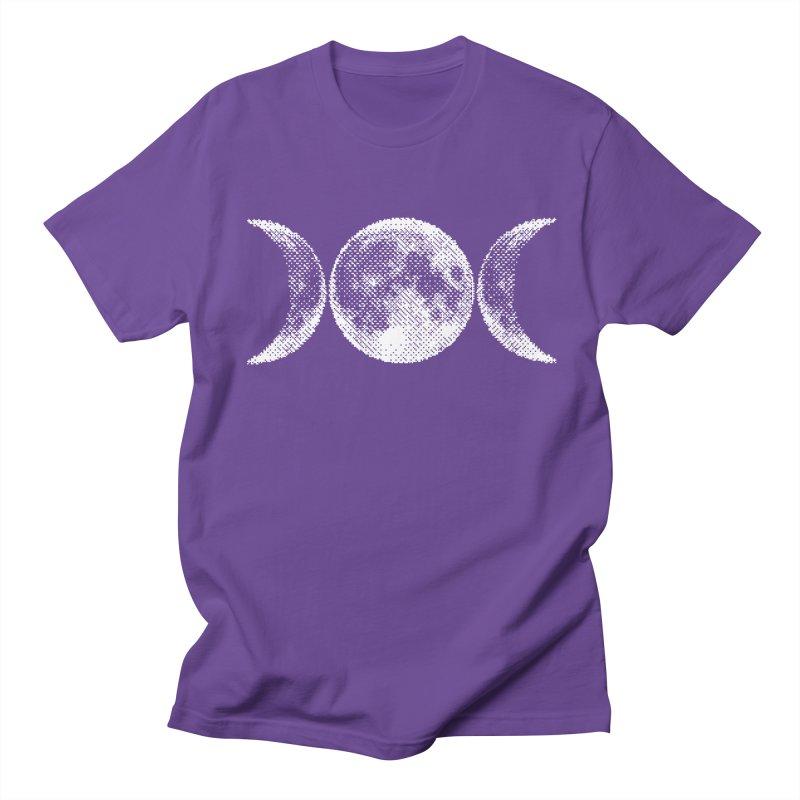 8 Bit Triple Moon Men's T-Shirt by nikolking's Artist Shop