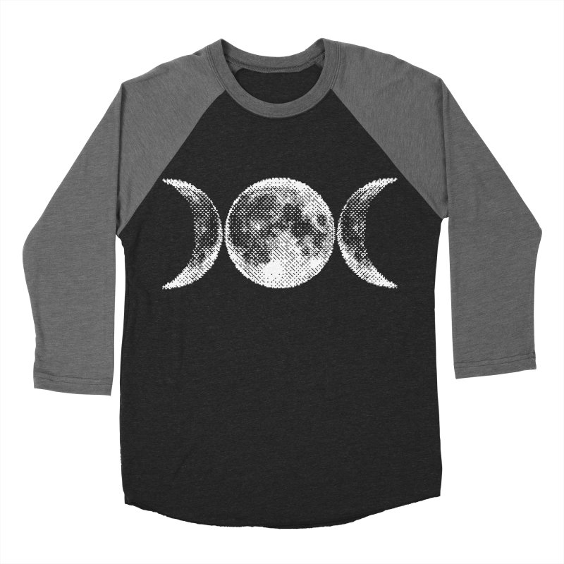 8 Bit Triple Moon Men's Baseball Triblend T-Shirt by nikolking's Artist Shop