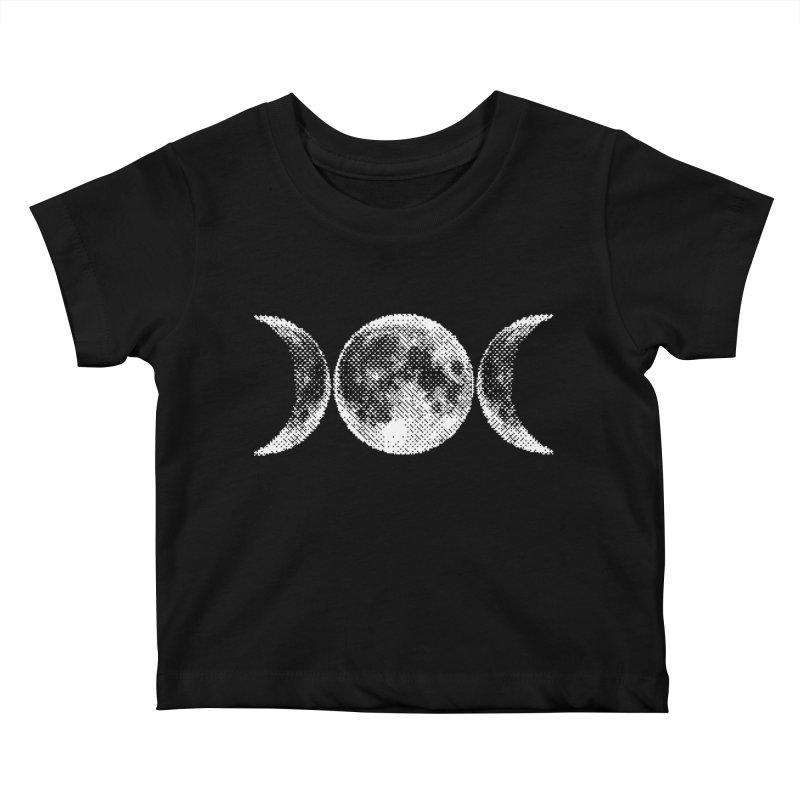 8 Bit Triple Moon Kids Baby T-Shirt by Nikol King's Artist Shop