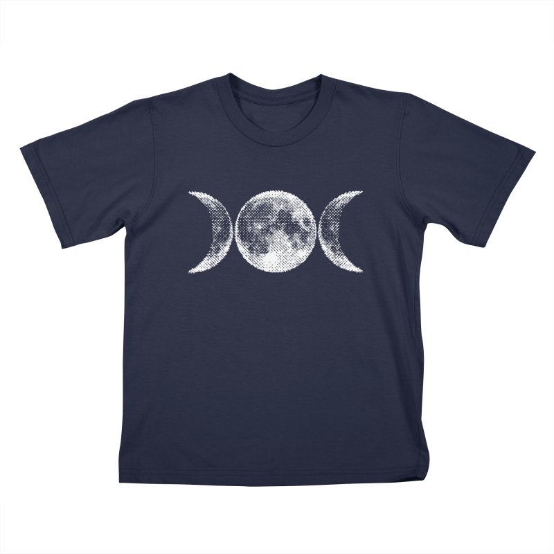 8 Bit Triple Moon Kids T-Shirt by Nikol King's Artist Shop