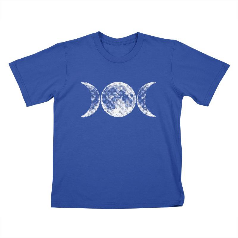 8 Bit Triple Moon Kids T-Shirt by nikolking's Artist Shop