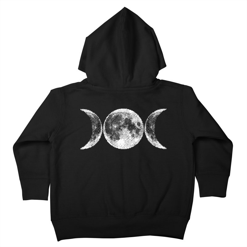 8 Bit Triple Moon Kids Toddler Zip-Up Hoody by nikolking's Artist Shop