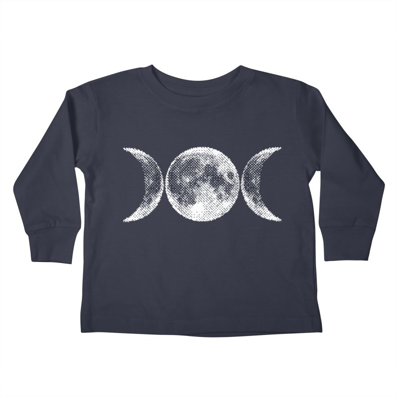 8 Bit Triple Moon Kids Toddler Longsleeve T-Shirt by Nikol King's Artist Shop