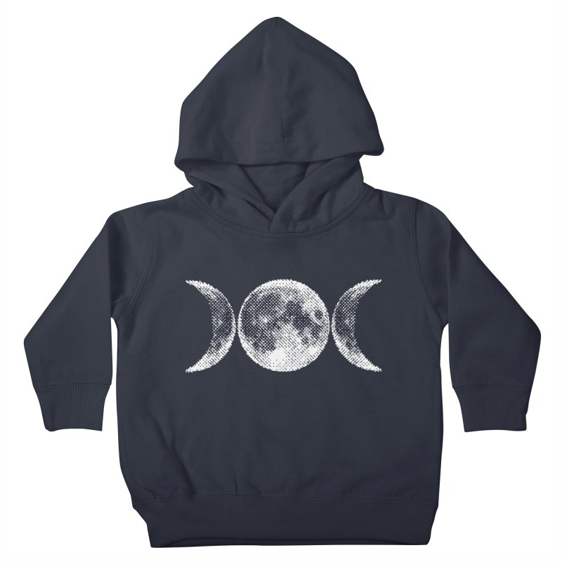 8 Bit Triple Moon Kids Toddler Pullover Hoody by Nikol King's Artist Shop