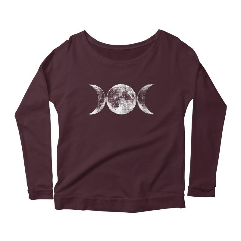 8 Bit Triple Moon Women's Scoop Neck Longsleeve T-Shirt by nikolking's Artist Shop
