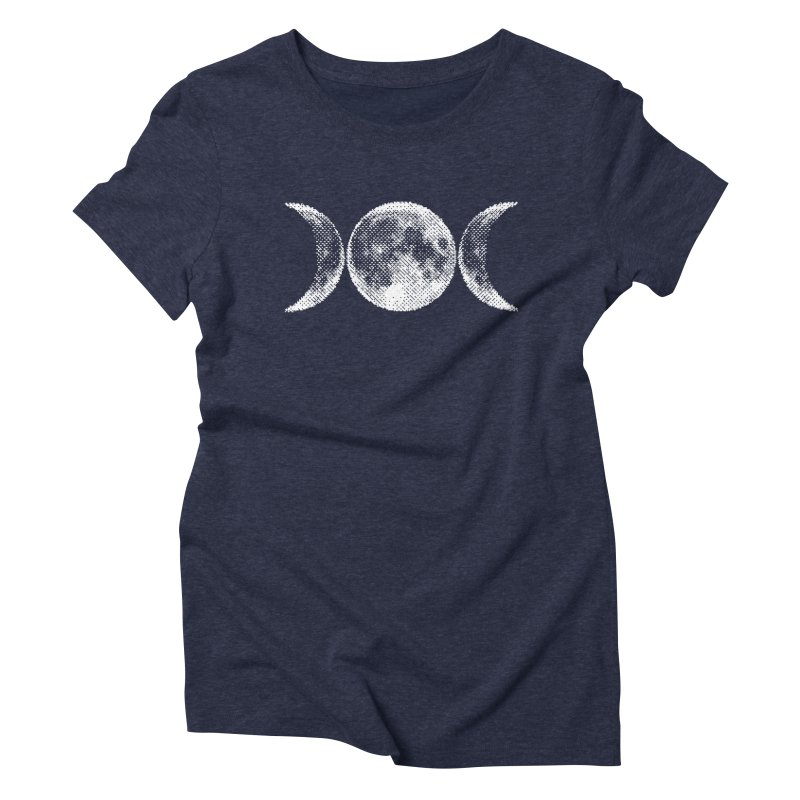 8 Bit Triple Moon Women's Triblend T-Shirt by nikolking's Artist Shop