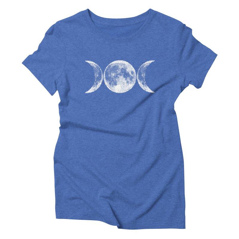 8 Bit Triple Moon Women's Triblend T-Shirt by nikolking's Artist Shop