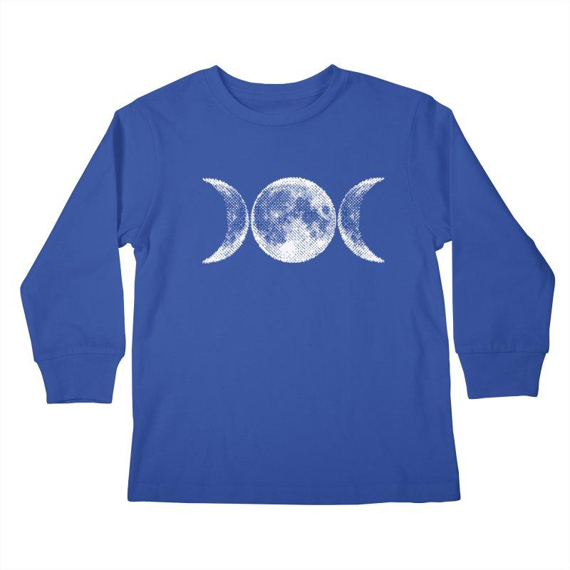 8 Bit Triple Moon Kids Longsleeve T-Shirt by Niko L King's Artist Shop