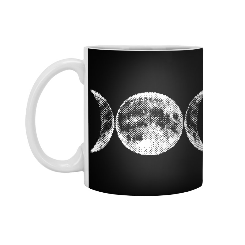 8 Bit Triple Moon Accessories Mug by nikolking's Artist Shop