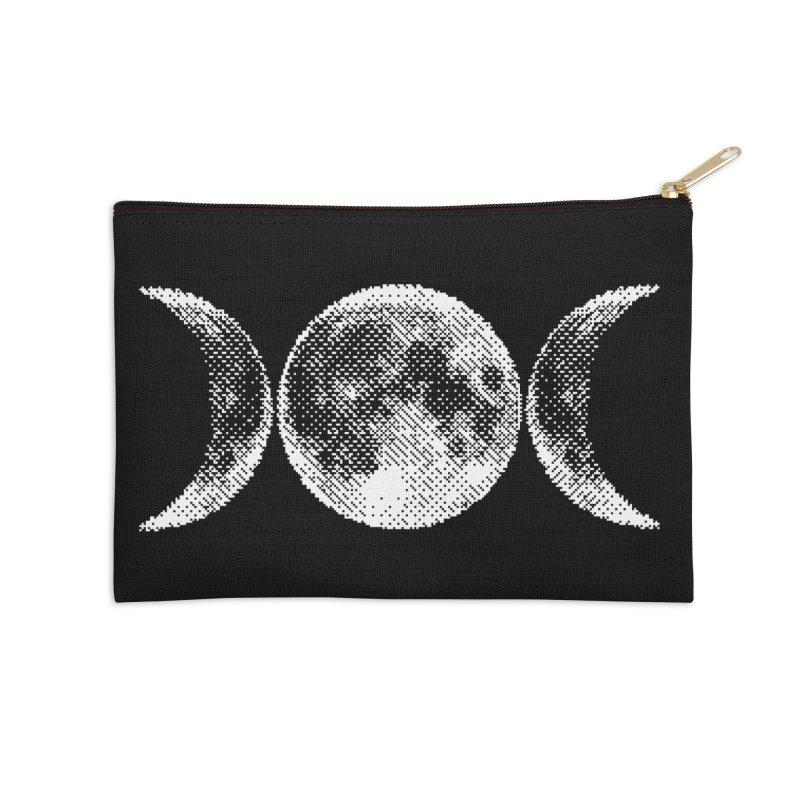 8 Bit Triple Moon Accessories Zip Pouch by nikolking's Artist Shop