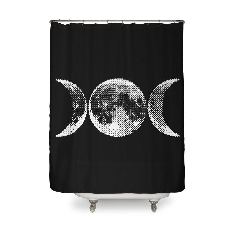 8 Bit Triple Moon Home Shower Curtain by nikolking's Artist Shop