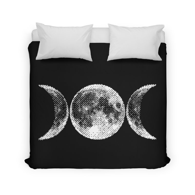 8 Bit Triple Moon Home Duvet by nikolking's Artist Shop