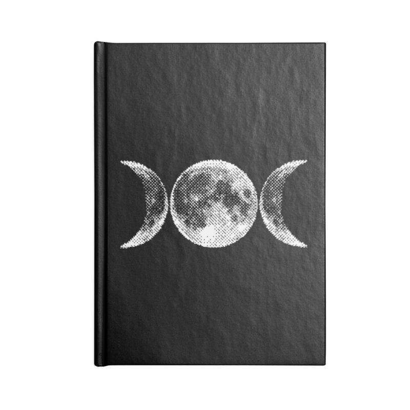 8 Bit Triple Moon Accessories Notebook by nikolking's Artist Shop