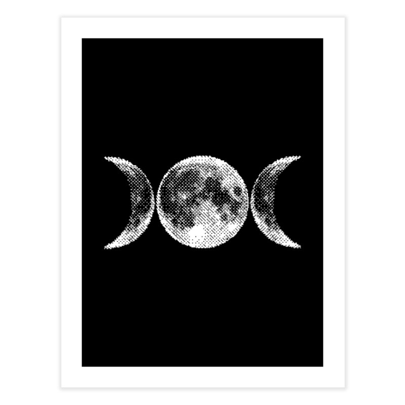 8 Bit Triple Moon Home Fine Art Print by nikolking's Artist Shop