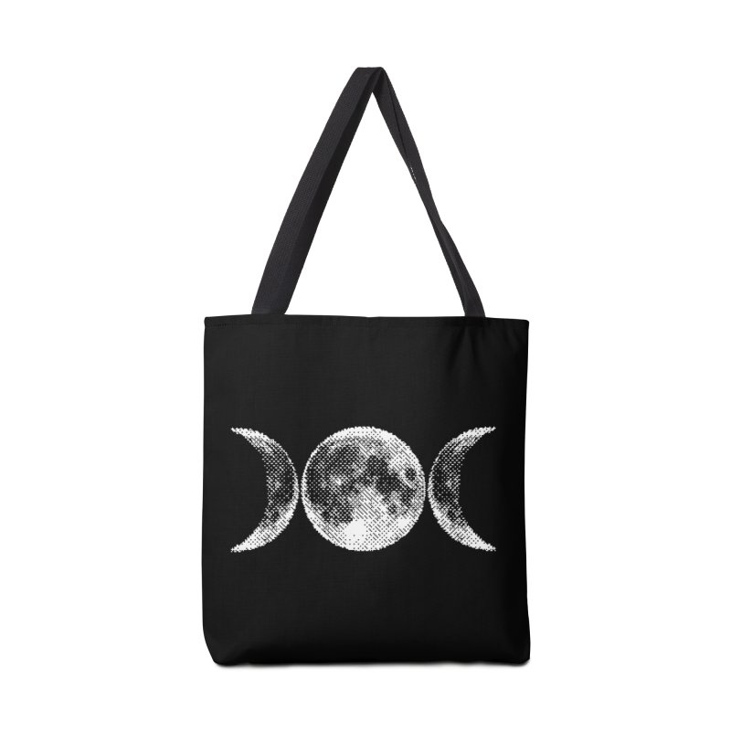 8 Bit Triple Moon Accessories Bag by nikolking's Artist Shop