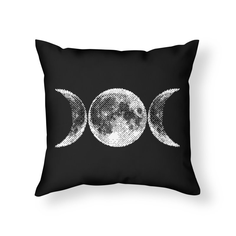 8 Bit Triple Moon Home Throw Pillow by nikolking's Artist Shop