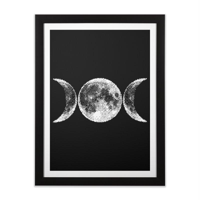 8 Bit Triple Moon Home Framed Fine Art Print by nikolking's Artist Shop
