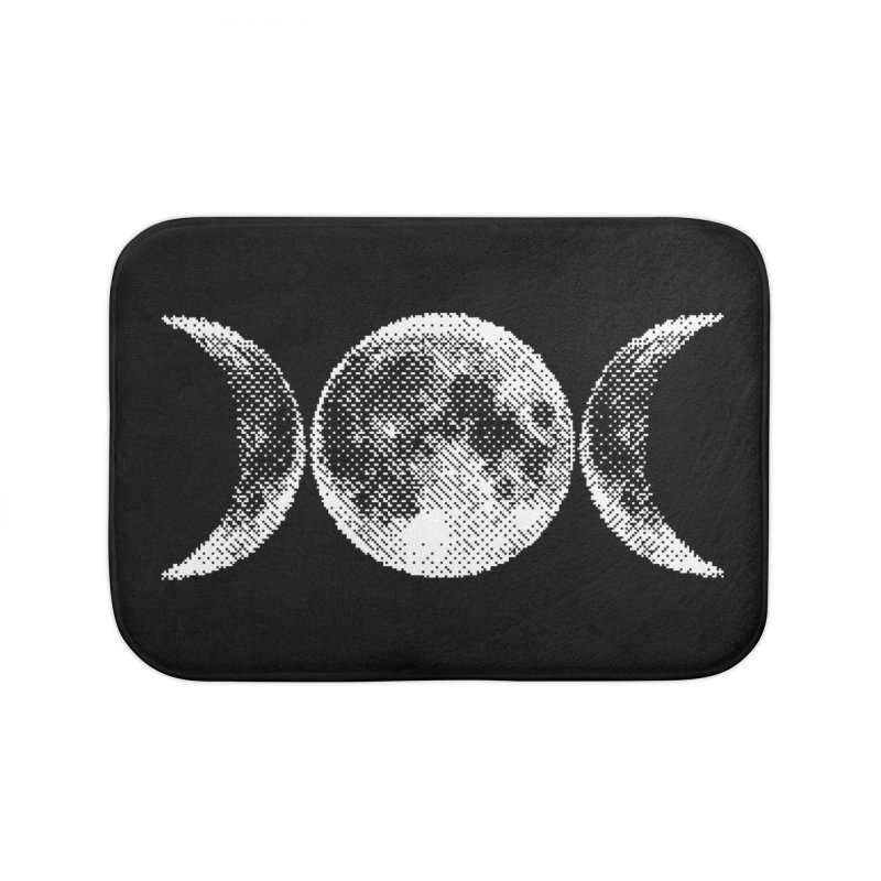8 Bit Triple Moon Home Bath Mat by nikolking's Artist Shop