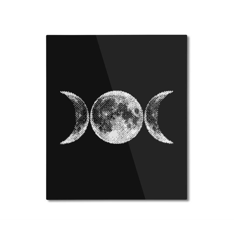8 Bit Triple Moon Home Mounted Aluminum Print by nikolking's Artist Shop