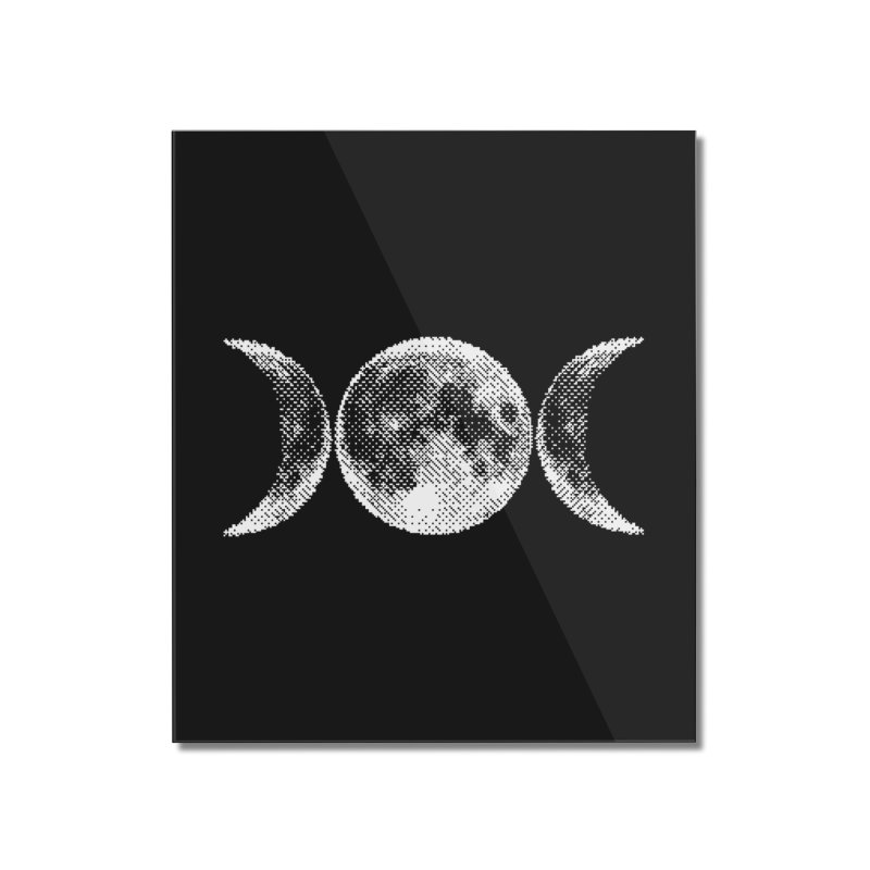 8 Bit Triple Moon Home Mounted Acrylic Print by nikolking's Artist Shop