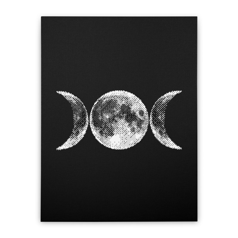 8 Bit Triple Moon Home Stretched Canvas by nikolking's Artist Shop