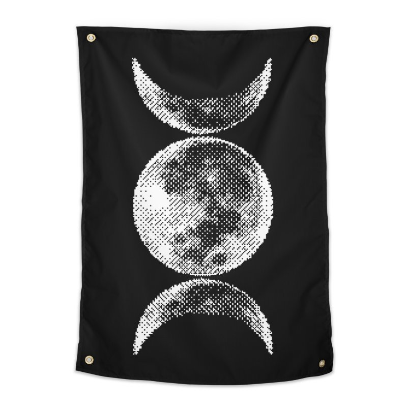 8 Bit Triple Moon Home Tapestry by nikolking's Artist Shop