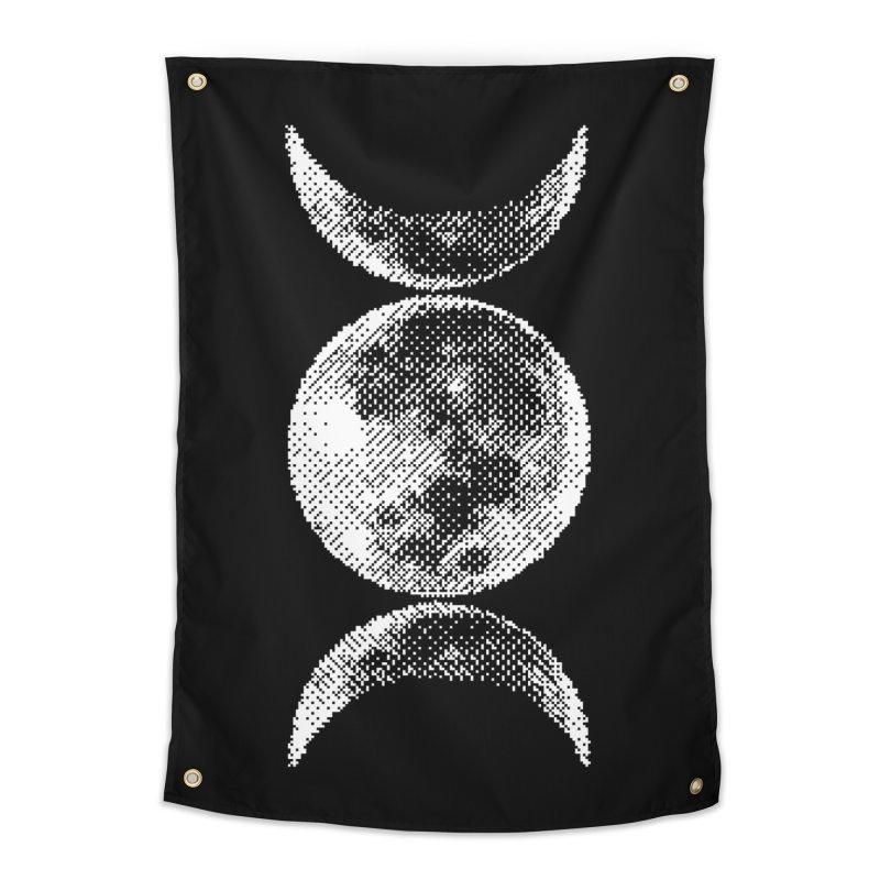 8 Bit Triple Moon Home Tapestry by nikolking's Artist Shop