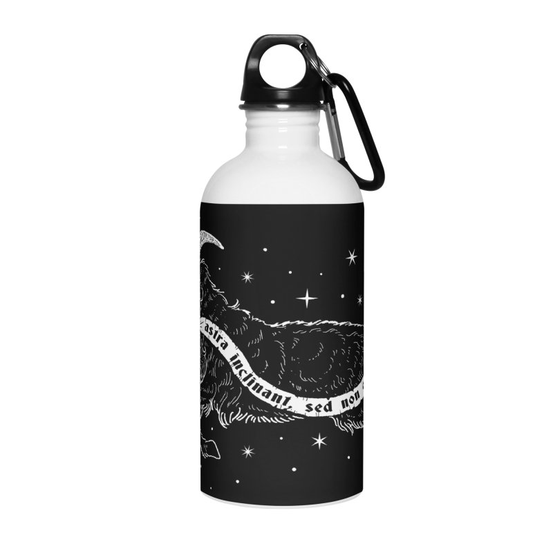 Night Goat Accessories Water Bottle by Niko L King's Artist Shop