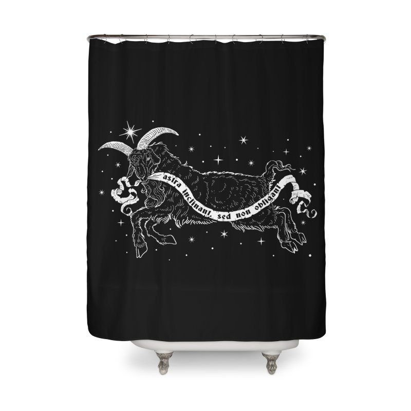 Night Goat Home Shower Curtain by Nikol King's Artist Shop