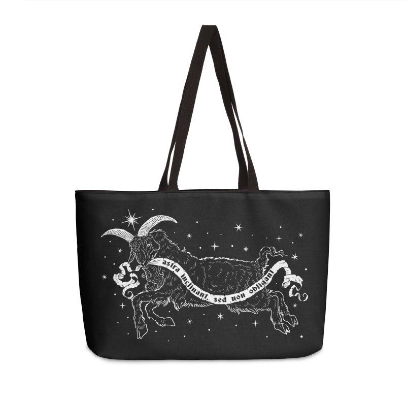 Night Goat Accessories Weekender Bag Bag by Nikol King's Artist Shop
