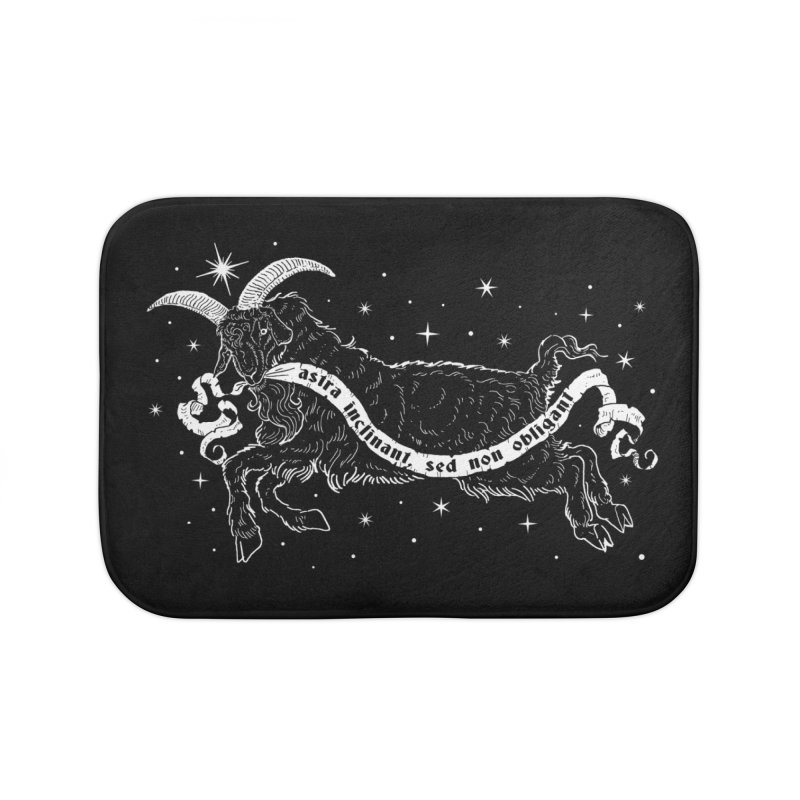 Night Goat Home Bath Mat by nikolking's Artist Shop