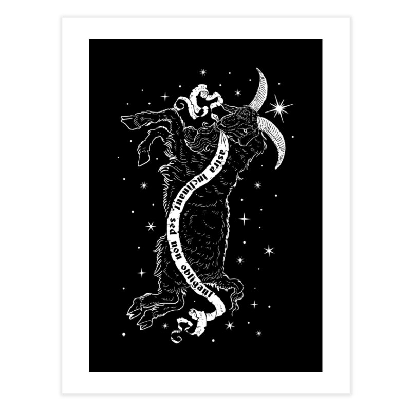Night Goat Home Fine Art Print by Niko L King's Artist Shop