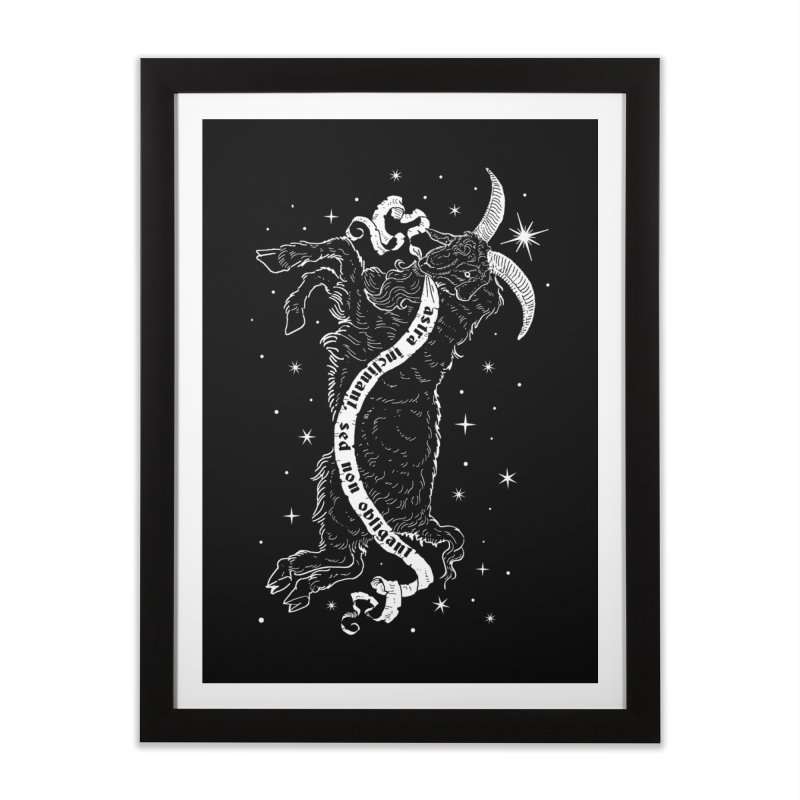 Night Goat Home Framed Fine Art Print by nikolking's Artist Shop