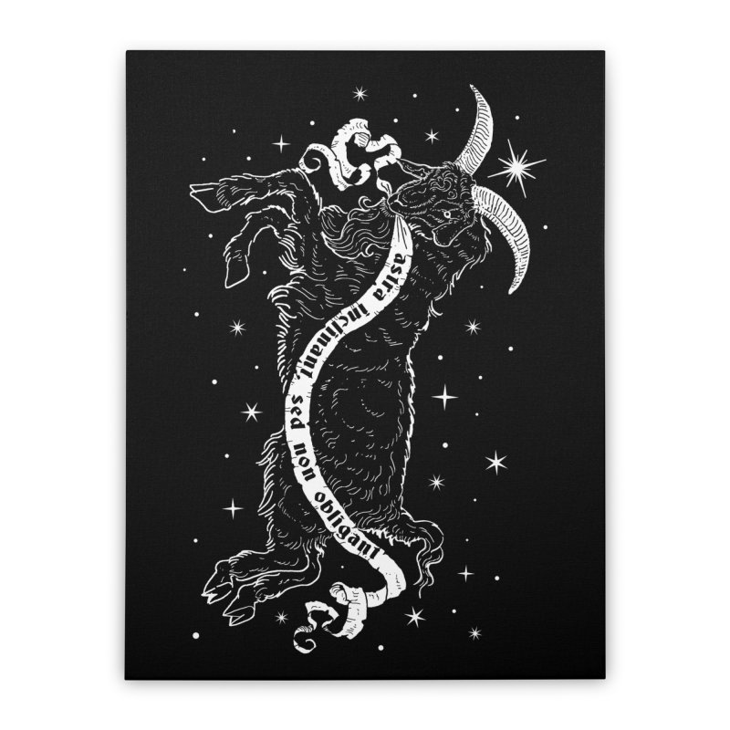 Night Goat Home Stretched Canvas by nikolking's Artist Shop