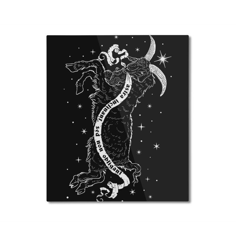 Night Goat Home Mounted Aluminum Print by Nikol King's Artist Shop