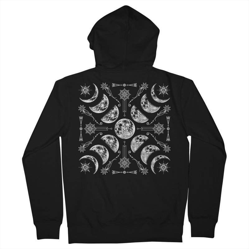 Lunar Chaos Men's French Terry Zip-Up Hoody by Nikol King's Artist Shop