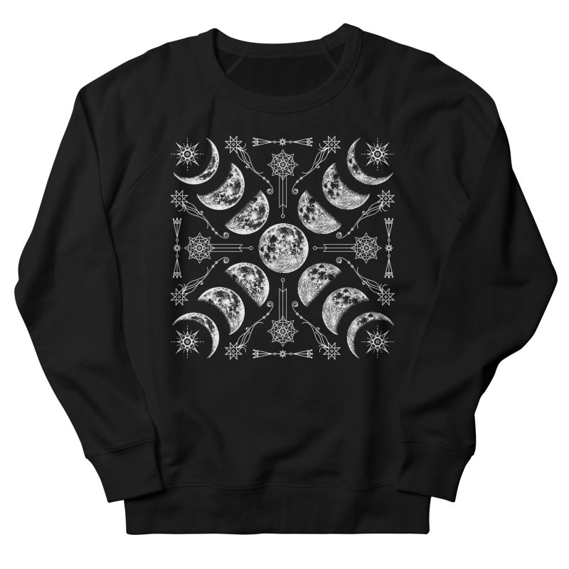 Lunar Chaos Men's French Terry Sweatshirt by Nikol King's Artist Shop